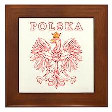 Polska Red Polish Eagle Framed Tile
