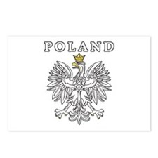 Poland With Polish Eagle Postcards (Package of 8)