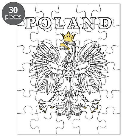 Poland With Polish Eagle Puzzle