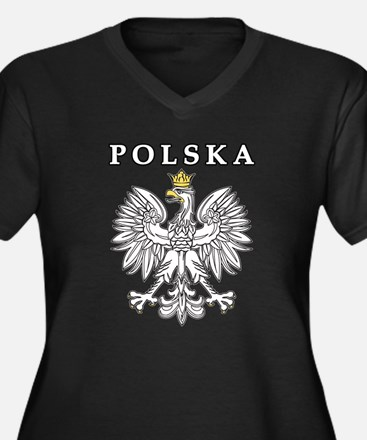 Polska With Polish Eagle Women's Plus Size V-Neck