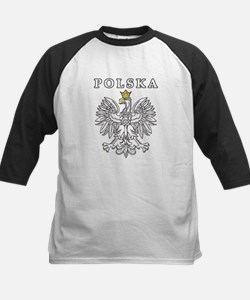 Polska With Polish Eagle Kids Baseball Jersey