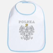 Polska With Polish Eagle Bib