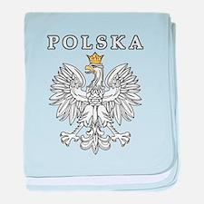 Polska With Polish Eagle baby blanket