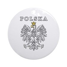 Polska With Polish Eagle Ornament (Round)