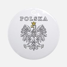 Polska With Polish Eagle Ornament (Round)