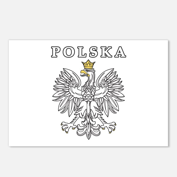 Polska With Polish Eagle Postcards (Package of 8)