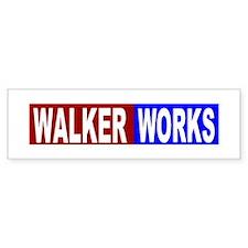 Walker works Bumper Bumper Sticker