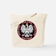 Round Polish Eagle Tote Bag