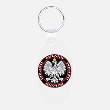 Round Polish Eagle Keychains