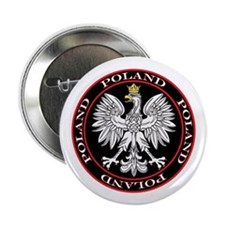 "Round Polish Eagle 2.25"" Button"
