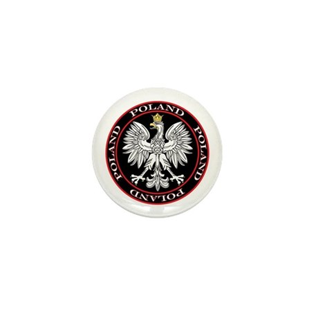 Round Polish Eagle Mini Button (10 pack)