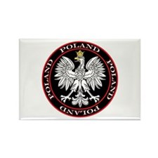 Round Polish Eagle Rectangle Magnet