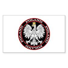 Round Polish Eagle Decal