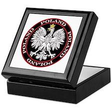 Round Polish Eagle Keepsake Box
