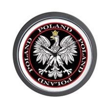 Round Polish Eagle Wall Clock
