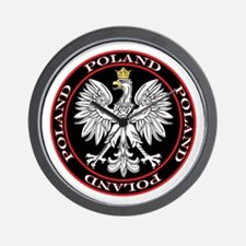 Round Polish Eagle Wall Clock