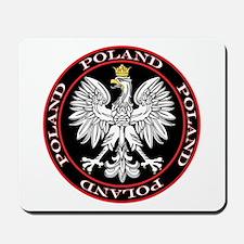 Round Polish Eagle Mousepad