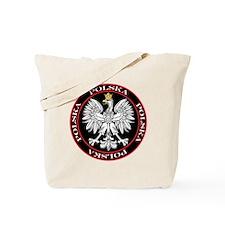 Round Polska Eagle Tote Bag