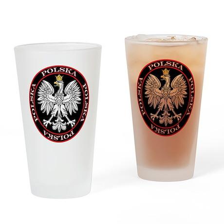 Round Polska Eagle Drinking Glass