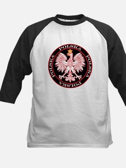 Round Polska Eagle Kids Baseball Jersey