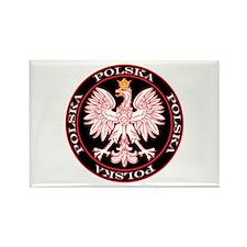 Round Polska Eagle Rectangle Magnet