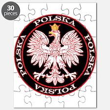 Round Polska Eagle Puzzle