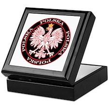 Round Polska Eagle Keepsake Box