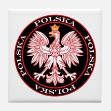 Round Polska Eagle Tile Coaster