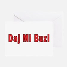Daj Mi Buzi - Give me a Kiss Greeting Card