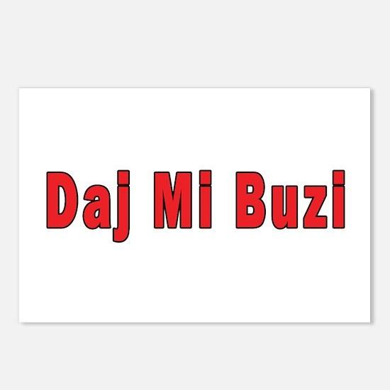 Daj Mi Buzi - Give me a Kiss Postcards (Package of