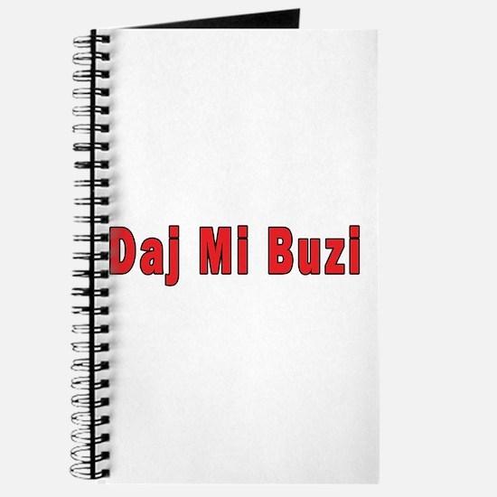 Daj Mi Buzi - Give me a Kiss Journal