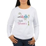 Custom Owl Birthday Women's Long Sleeve T-Shirt
