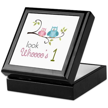 Custom Owl Birthday Keepsake Box