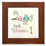 Custom Owl Birthday Framed Tile