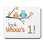 Custom Owl Birthday Mousepad