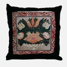 Folk Art Floral Throw Pillow