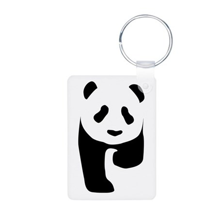 Panda Aluminum Photo Keychain