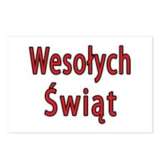 Wesolych Swiat Postcards (Package of 8)