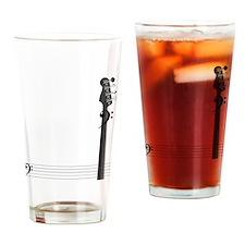 Bass Clef Drinking Glass