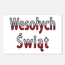 Wesolych Swiat Flag Postcards (Package of 8)