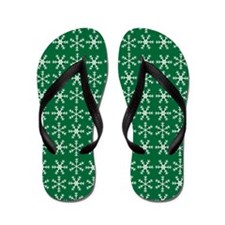 Christmas Snowflake Flip Flops