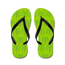 Christmas Tree Holiday Flip Flops