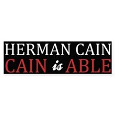 Herman Cain 2012 is ABLE Bumper Sticker