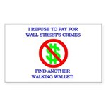 Walking Wallet Sticker (Rectangle)