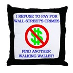 Walking Wallet Throw Pillow