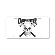 Carpenter Skull Aluminum License Plate