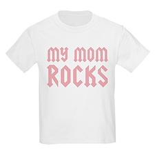My Mom Rocks Pink T-Shirt