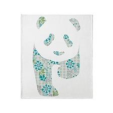 Floral Panda Throw Blanket