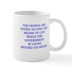 living and means Mug