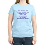 living and means Women's Light T-Shirt